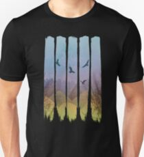 Eagles, Mountains, Grunge Landscape T-Shirt