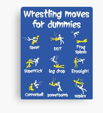 wrestling moves for dummies Canvas Print