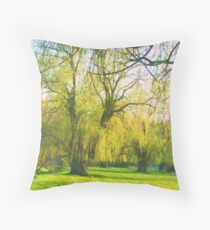 Softness of Willows Throw Pillow