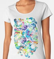 Parts of Reality Were Missing, But Which Parts? - Watercolor Painting Women's Premium T-Shirt