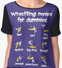 wrestling moves for dummies Women's Chiffon Top