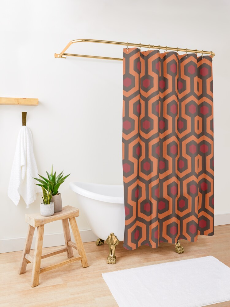 Alternate view of REDRUM Overlook Hotel Carpet Stephen King's The Shining Shower Curtain