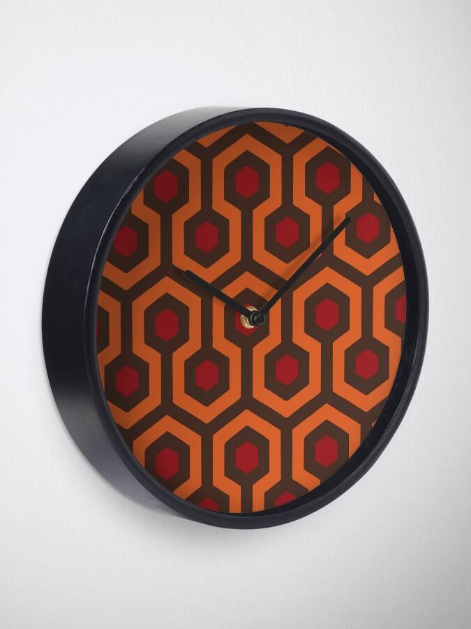 Alternate view of REDRUM Overlook Hotel Carpet Stephen King's The Shining Clock