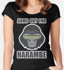 Arms Out For Harambe Women's Fitted Scoop T-Shirt