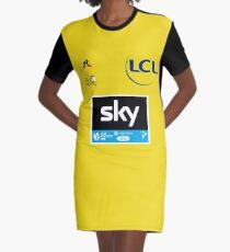 Team Sky Yellow Jersey 2017 - Le Tour De France Graphic T-Shirt Dress