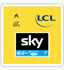 Team Sky Yellow Jersey 2017 - Le Tour De France Sticker