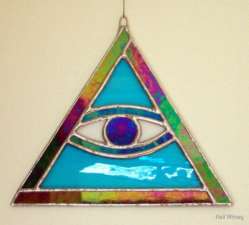 Stained Glass All Seeing Eye by Neil Witney
