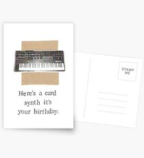 Synth It's Your Birthday Postcards