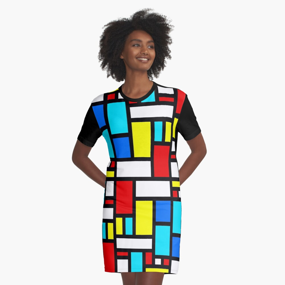 Bauhaus-esque Mid Century Modern 4 Graphic T-Shirt Dress