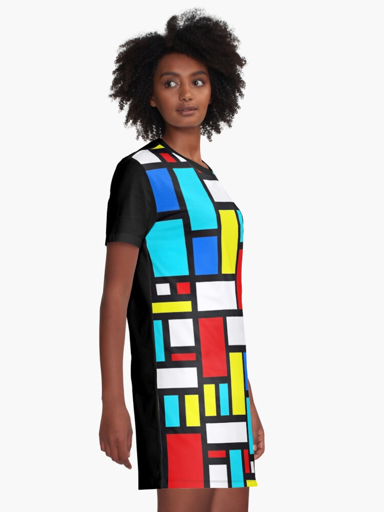 Alternate view of Bauhaus-esque Mid Century Modern 4 Graphic T-Shirt Dress