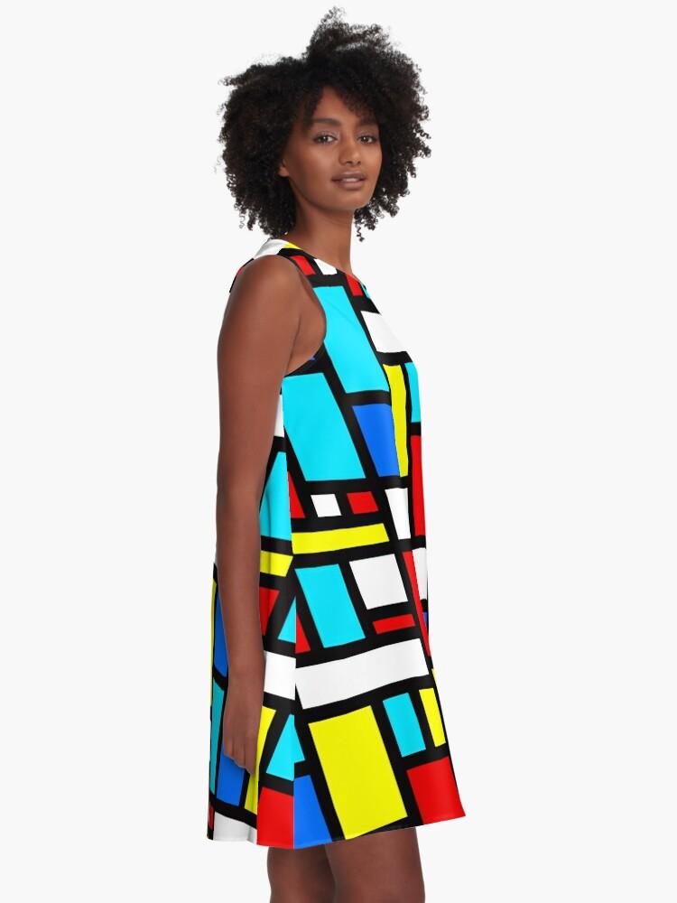 Alternate view of Bauhaus-esque Mid Century Modern 4 A-Line Dress