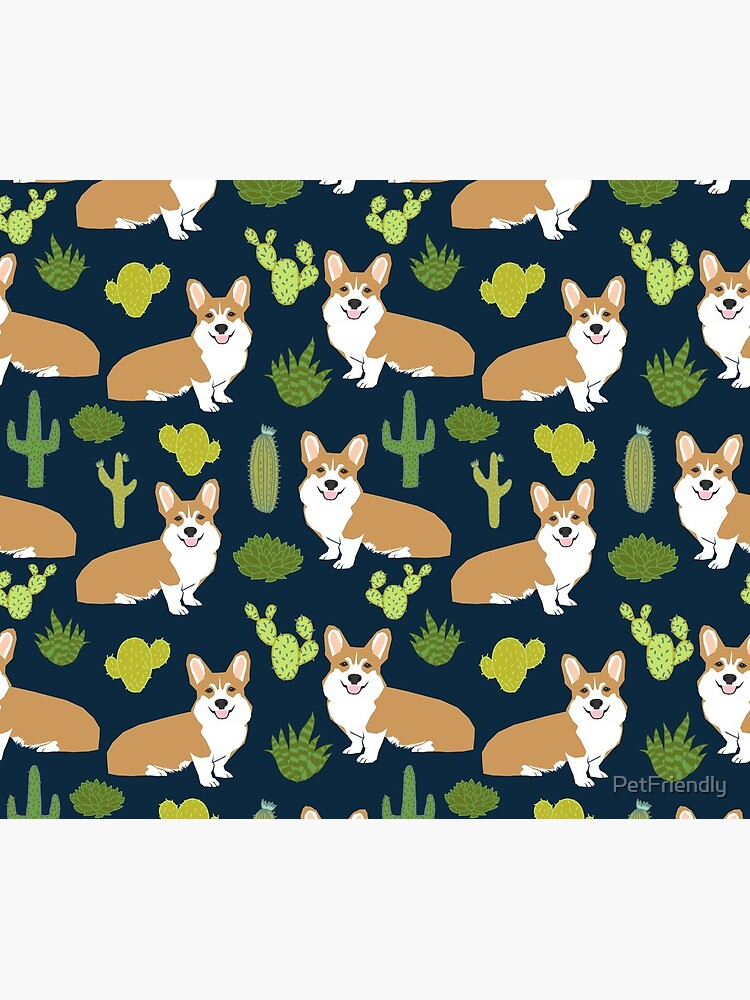 Corgi welsh corgi southwest cactus dog dogs dog breed dog pattern pet friendly by PetFriendly