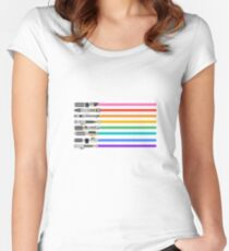 Pride Lightsabers Women's Fitted Scoop T-Shirt