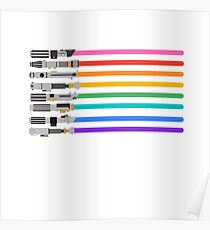 Pride Lightsabers Poster