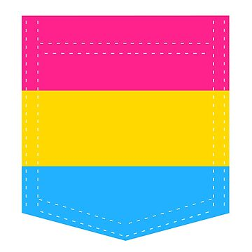pansexual pride flag pocket by varnel