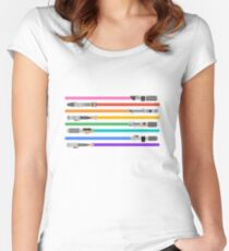 LGBT+ Lightsabers Women's Fitted Scoop T-Shirt