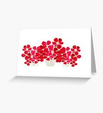 Small red watercolor posies design Greeting Card