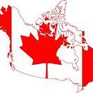 Canada Flag Map by Omar Dakhane