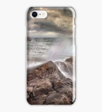 Crashing waves and storm clouds iPhone Case/Skin