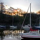 River Almond Sunset by Chris Clark