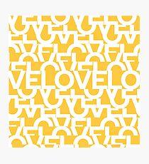 Hidden Yellow LOVE message text art Photographic Print