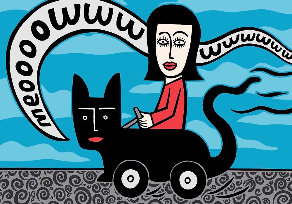Linda in her cat cat by baggelboy