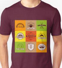 Barber Shop. Barber Logo. Barber Label. Gentleman Style. Men's Fashion. Barber Icon. Logo Set. Vintage Style. Vector illustration Unisex T-Shirt