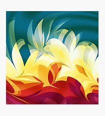 Abstract Flames Photographic Print