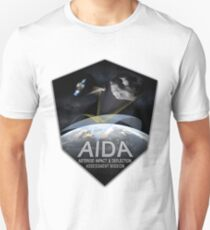 Asteroid Impact and Deflection Assesment (AIDA) Mission Logo Unisex T-Shirt