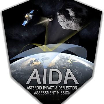 Asteroid Impact and Deflection Assesment (AIDA) Mission Logo by Spacestuffplus