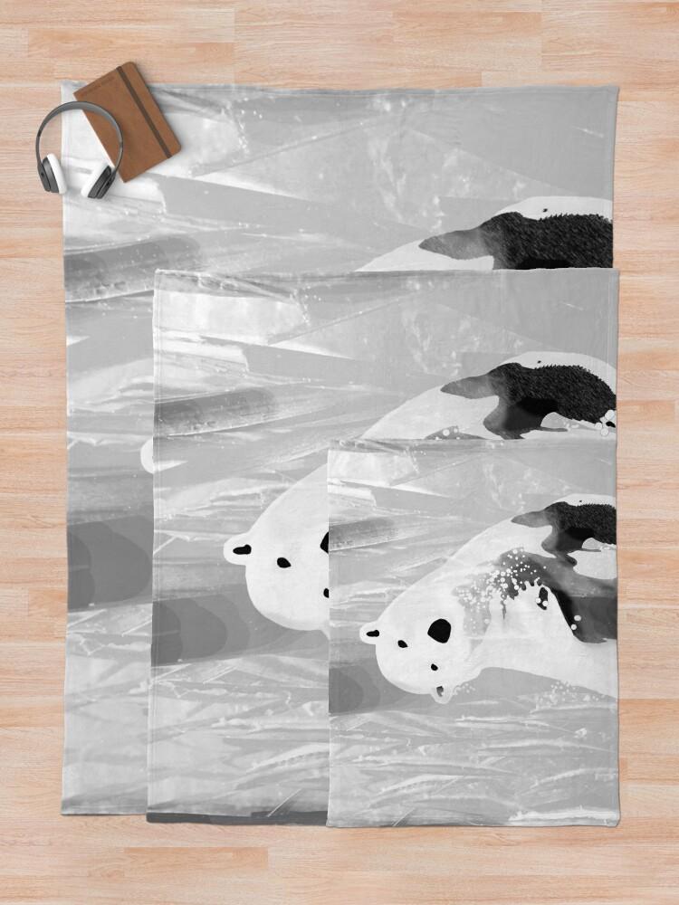 Alternate view of Unique Black and White Polar Bear Design  Throw Blanket