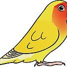 Lovebird Roseicollis Lutino by Mariewsart
