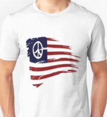 Peace Symbols - American Peace Flag Unisex T-Shirt