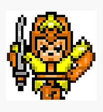8bit Game Character: Leather Knight 1 Photographic Print
