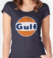Gulf Racing Retro Women's Fitted Scoop T-Shirt