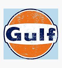 Gulf Racing Retro Photographic Print