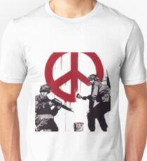 BANKSY SOLDIERS PEACE Unisex T-Shirt