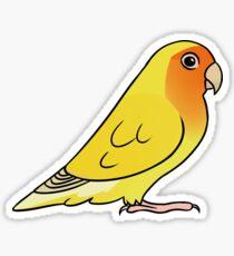 Lovebird Roseicollis Lutino Orange Gesicht Sticker