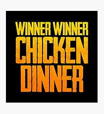 WINNER WINNER CHICKEN DINNER! (Vertical) - PUBG Design Photographic Print