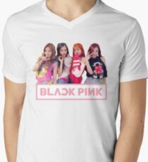 Blackpink 블랙 핑크 - Als ob es dein letzter ist 마지막 처럼 T-Shirt mit V-Ausschnitt