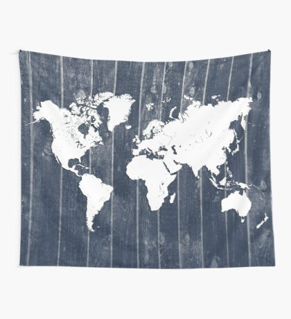 world map 98 white #worldmap #map  Wall Tapestry