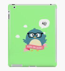 Nerd Bird on Shirt Rxb2i iPad Case/Skin