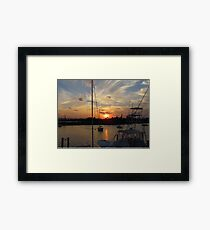 Sunset in Georgetown, SC Framed Print