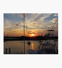 Sunset in Georgetown, SC Photographic Print