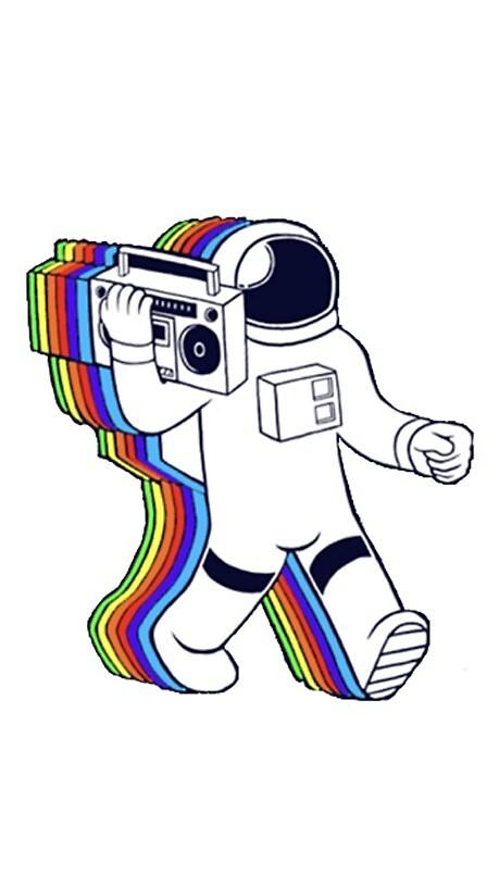 Rainbow Astronaut by hannahgreenfiel