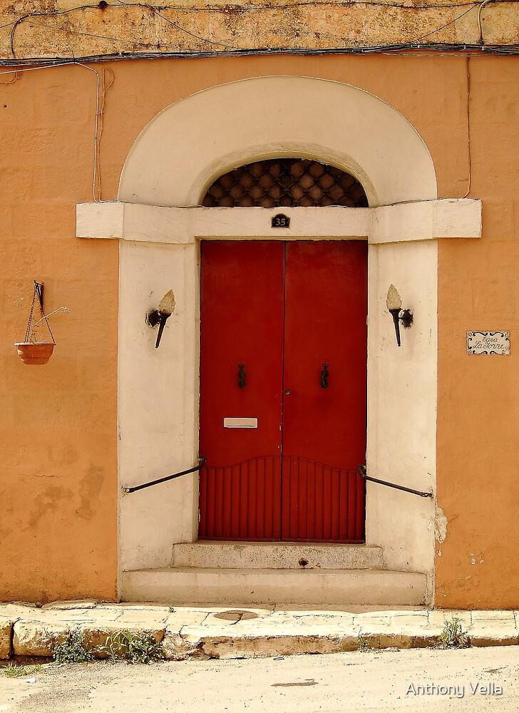 Old Door at Marsaxlokk.  by Anthony Vella