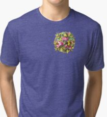 Flowers and Birds 1 Tri-blend T-Shirt
