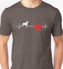 Special Bull Terrier Heartbeat Dog T-shirt  T-Shirt