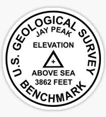 Jay Peak, Vermont USGS Style Benchmark Sticker