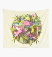 Flowers and Birds 1 Wall Tapestry